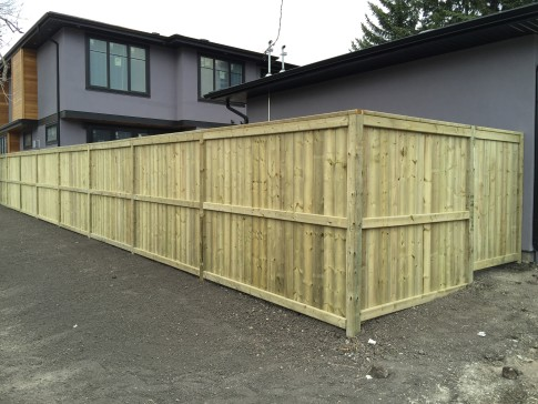 Pressure treated fortress style fence gorilla for Fortress fence design